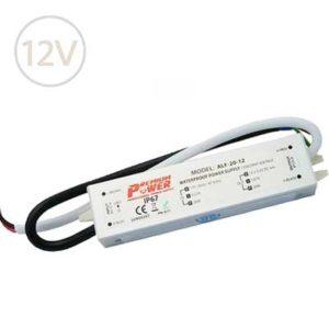 Vodeodolný napájací zdroj pre LED pásy 12V / 20W / IP67