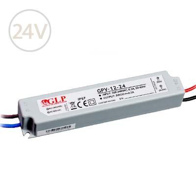 Vodeodolný napájací zdroj pre LED pásy 24V / 12W / IP67