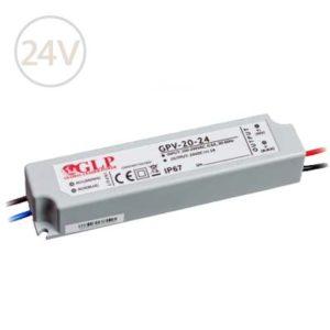Vodeodolný napájací zdroj pre LED pásy 24V / 24W / IP67