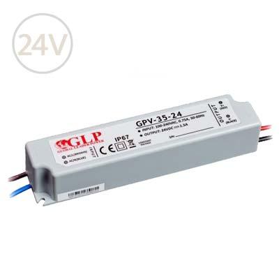 Vodeodolný napájací zdroj pre LED pásy 24V / 35W / IP67