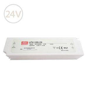 Vodeodolný napájací zdroj pre LED pásy 24V / 100W / IP67
