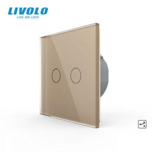LIVOLO VL-C702S-13 Dotykový vypínač č.5B - Zlatý