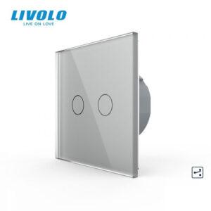 LIVOLO VL-C702S-15 Dotykový vypínač č.5B - Strieborný