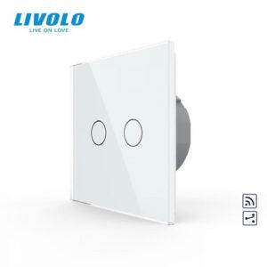 LIVOLO VL-C702SR-11 Dotykový vypínač č.5B + RF - Biely