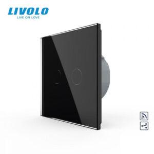 LIVOLO VL-C702SR-12 Dotykový vypínač č.5B + RF - Čierny