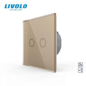 LIVOLO VL-C702SR-13 Dotykový vypínač č.5B + RF - Zlatý