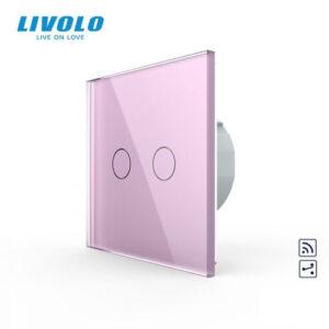 LIVOLO VL-C702SR-17 Dotykový vypínač č.5B + RF - Ružový