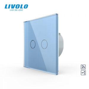 LIVOLO VL-C702SR-19 Dotykový vypínač č.5B + RF - Modrý