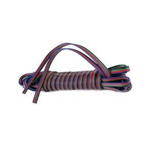 Kábel 4-žilový 4x0.5mm2 pre napájanie RGB LED pásov 1m