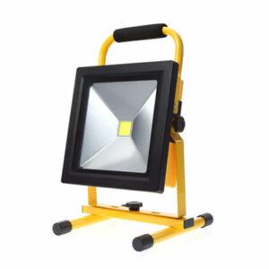 Prenosný LED reflektor 30W, 2100lm, studená biela