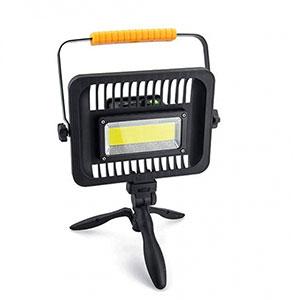 Prenosný LED reflektor 50W, studená biela