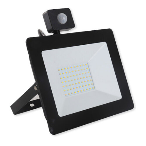 PREMIUM LED reflektor so senzorom 100W, 10000lm, studená biela