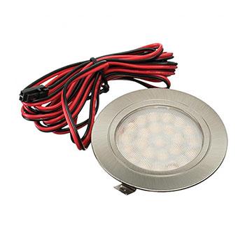 Nábytkové, kruhové svietidlo PROFI, zapustené 1.8W, 180lm, nikel, teplá biela