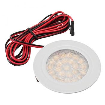 Nábytkové, kruhové svietidlo PROFI, zapustené 1.8W, 180lm, biele, teplá biela