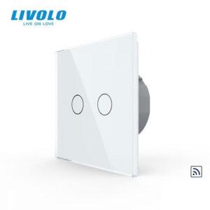 LIVOLO VL-C702R-11 Dotykový vypínač č.5 + RF - Biely