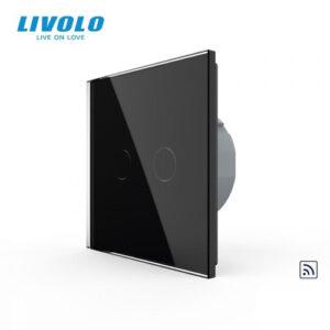 LIVOLO VL-C702R-12 Dotykový vypínač č.5 + RF - Čierny