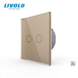 LIVOLO VL-C702R-13 Dotykový vypínač č.5 + RF - Zlatý