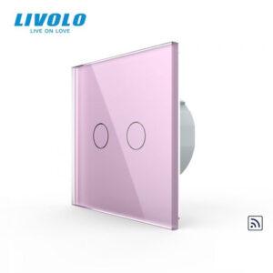 LIVOLO VL-C702R-17 Dotykový vypínač č.5 + RF - Ružový