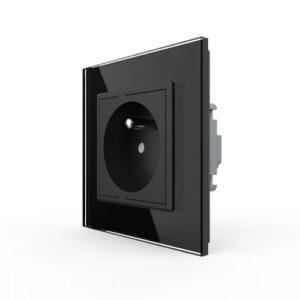Elektrická zásuvka LIVOLO VL-C7C1FR-12 čierna