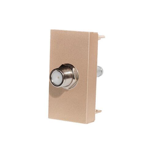 SAT konektor polmodul | Zlatý