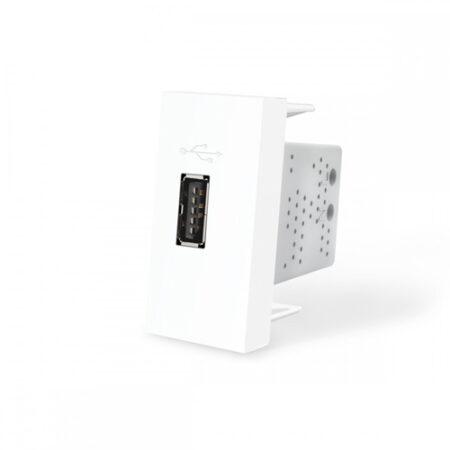 USB nabíjací polmodul - biely