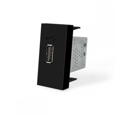 USB nabíjací polmodul - čierny