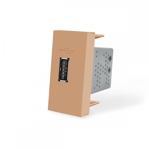 USB nabíjací polmodul - zlatý