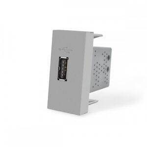 USB nabíjací polmodul - strieborný