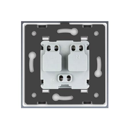 exkluzívna elektrická zásuvka livolo, biela VL-C7C1FR-11