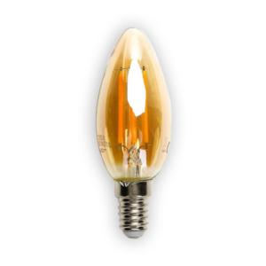 LED žiarovka AMBER E14 4W/420lm, LED vlákno, teplá biela