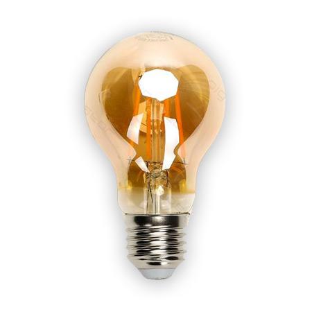LED žiarovka AMBER E27 6W/580lm, A60, LED vlákno, teplá biela