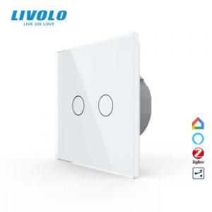 LIVOLO VL-C702SZ-11 ZigBee bezdrôtový vypínač č.5B - Biely
