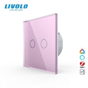 LIVOLO VL-C702SZ-15 ZigBee bezdrôtový vypínač č.5B - Ružový