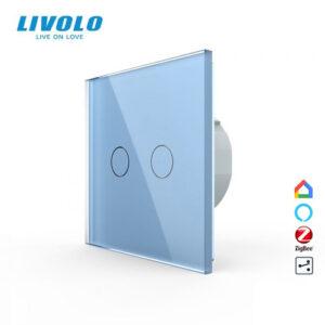 LIVOLO VL-C702SZ-15 ZigBee bezdrôtový vypínač č.5B - Modrý