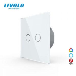LIVOLO VL-C702Z-11 ZigBee bezdrôtový vypínač č.5 - Biely
