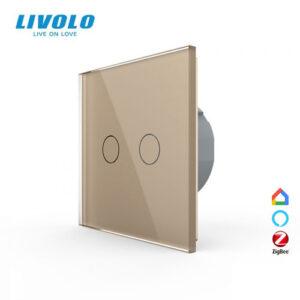 LIVOLO VL-C702Z-13 ZigBee bezdrôtový vypínač č.5 - Zlatý
