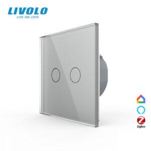 LIVOLO VL-C702Z-15 ZigBee bezdrôtový vypínač č.5 - Strieborný