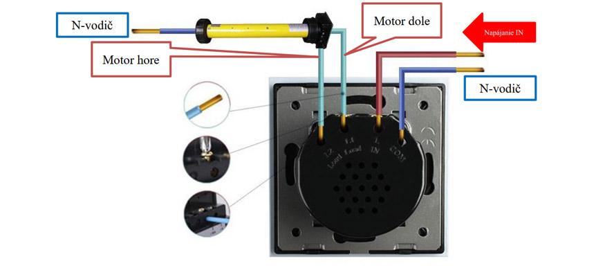 Schéma zapojenia žalúziového ovládača VL-C702W
