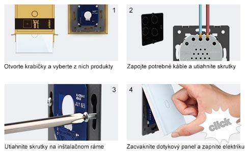 Schéma zapojenia dotykových vypínačov LIVOLO