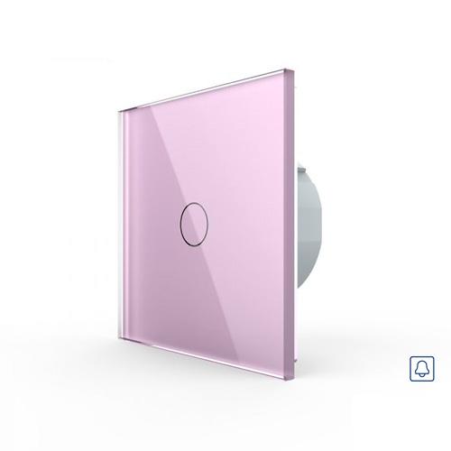 LIVOLO VL-C701H-17 Zvončekové tlačidlo č.1/0 - Ružové